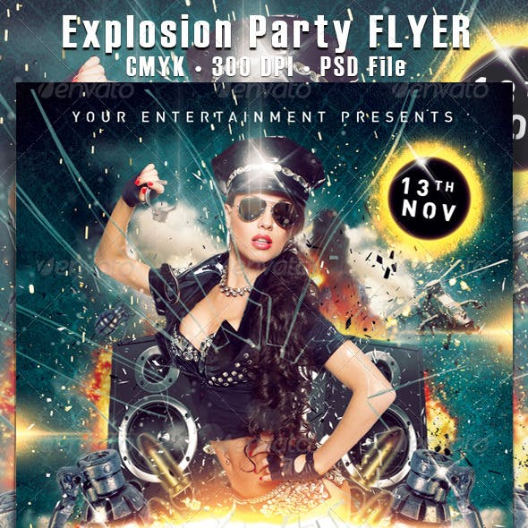 Explosion Party Flyer