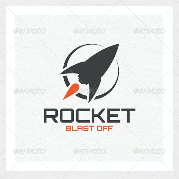 Rocket Blast Off Logo