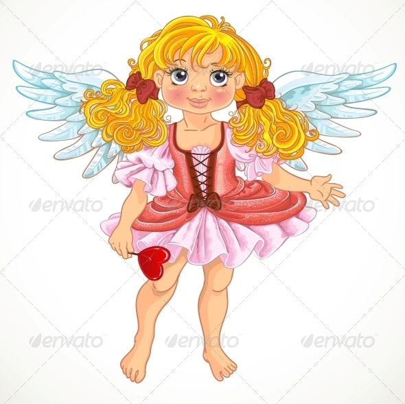 Angel Girl with Wings - People Characters