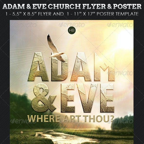 Adam Eve Flyer Poster Church Template