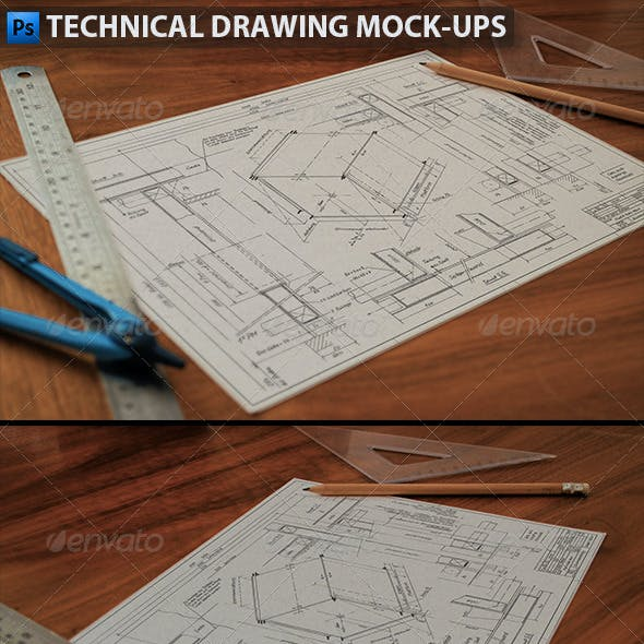 Technical Drawing | Drafting Mock-Ups