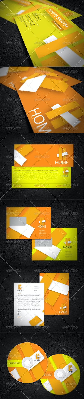 Home Company Corporate Identity  - Stationery Print Templates