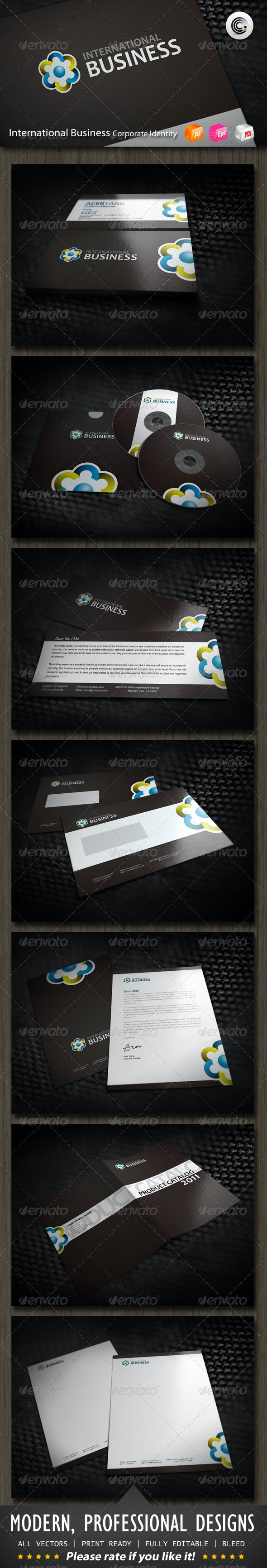 International Business Corporate Identity - Stationery Print Templates