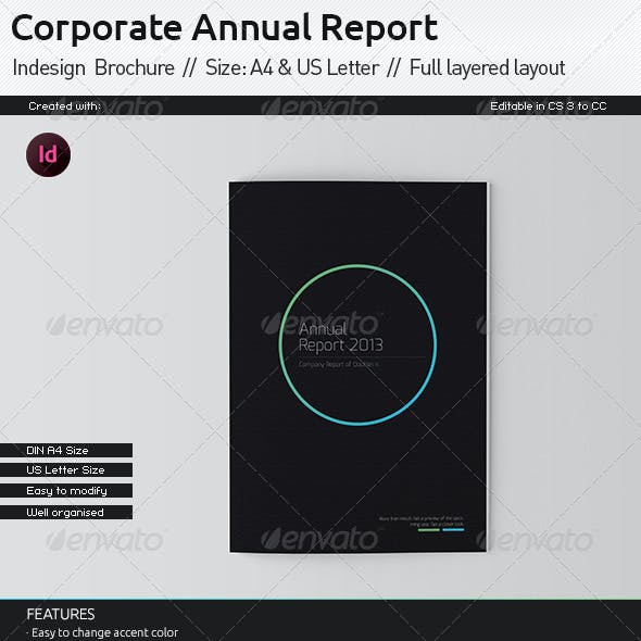 Black Annual Report // A4 and US Letter Size