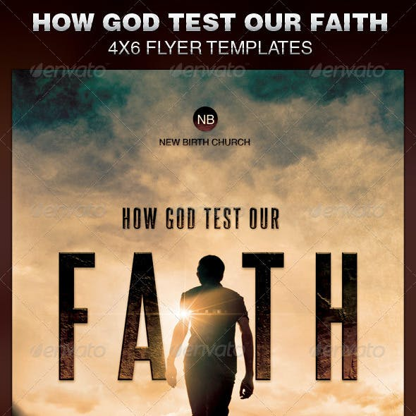 How God Test Our Faith Church Flyer Template