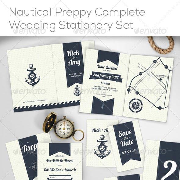 Nautical Complete Wedding Stationery Set