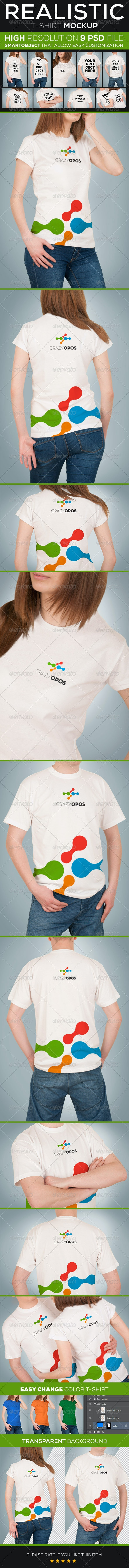 T-shirt Mockup - Product Mock-Ups Graphics