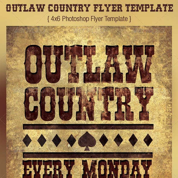 Outlaw Country Flyer Template