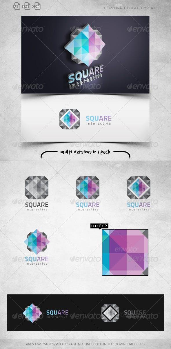 Diamond Square Interactive-Logo Template