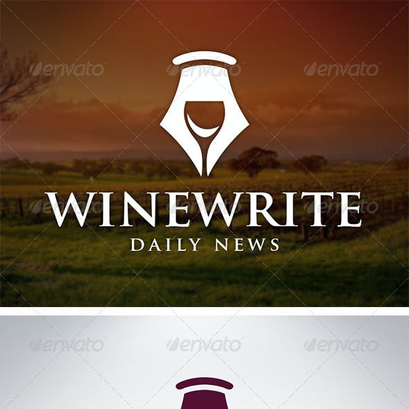 Wine Writer Logo Template