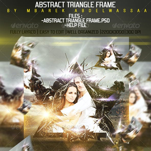 Abstract Triangle frame