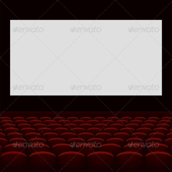 Cinema Theatre with Screen and Seats