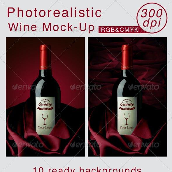 Wine Mockup - 300 dpi - photo quality - RGB & CMYK