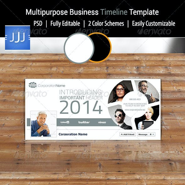 Multipurpose Business Facebook Timeline 1