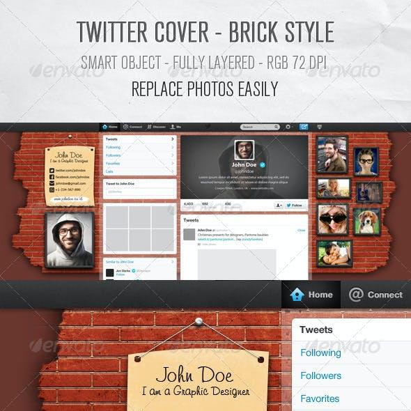 Twitter Background Design - Brick Style