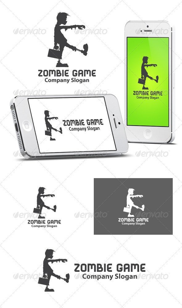 Zombie Game Logo - Humans Logo Templates