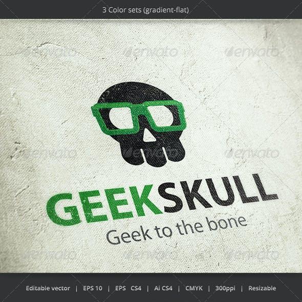 Geek Skull Logo
