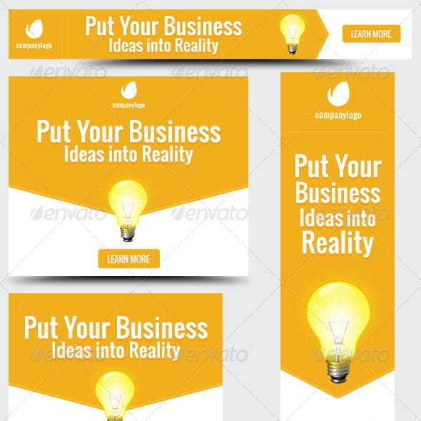 Business Idea Web Banner Design