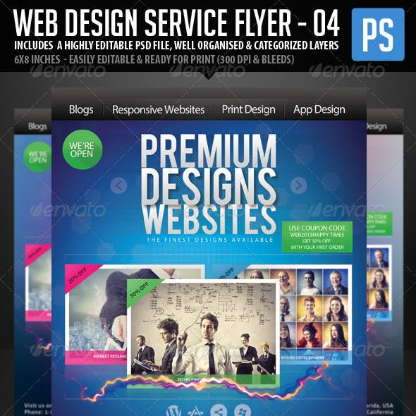 Web & Graphic Design Service Flyer - 4