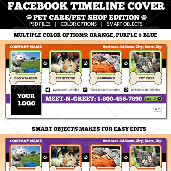 Pet Care Facebook Timeline Cover