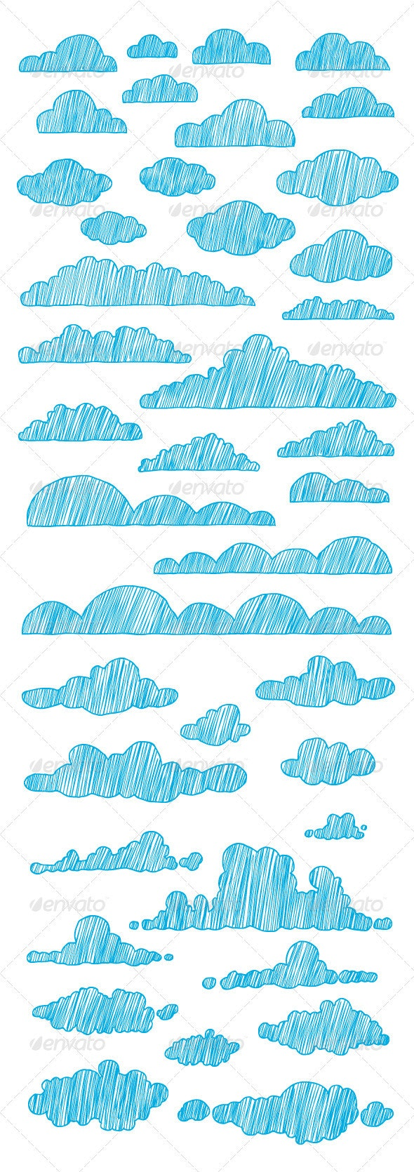 Hand-Drawn Clouds Collection - Nature Conceptual