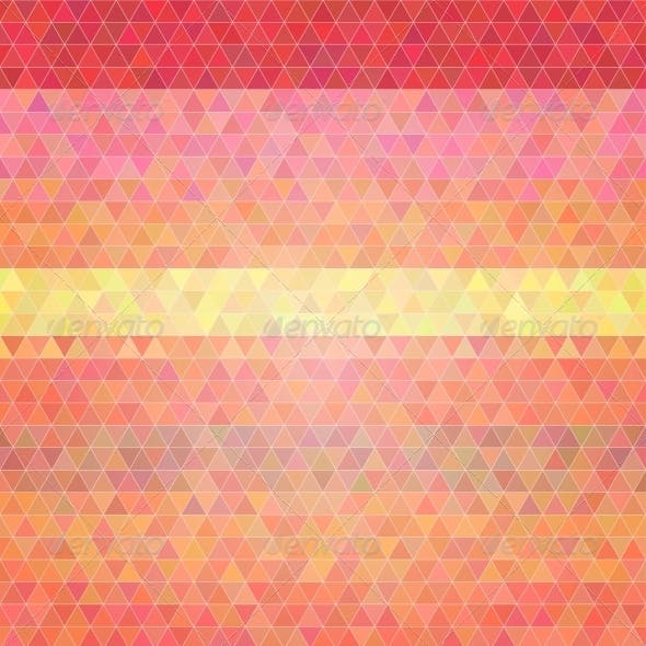Abstract Flat Style Polygon Background.