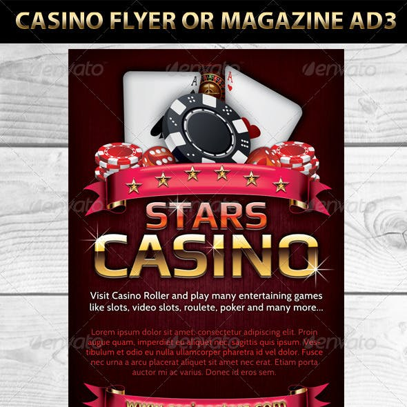 Casino Magazine Ads or flyers Templates 3