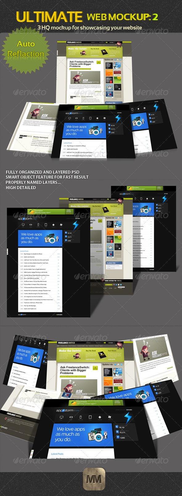 Web Mockup Pack - 2 - Website Displays