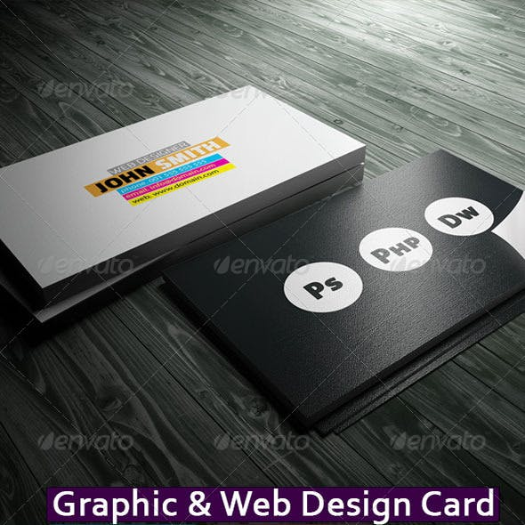 Graphic & Web Design Business Card