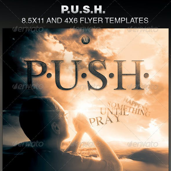 P.U.S.H. Church Flyer Template