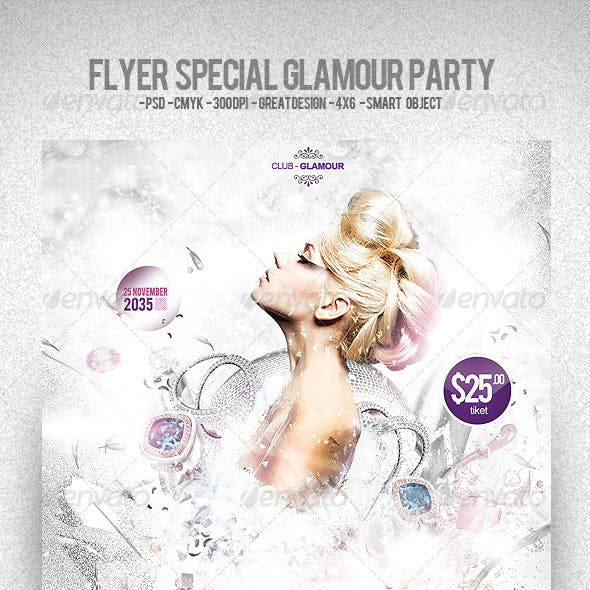 Flyer Special Glamour Party
