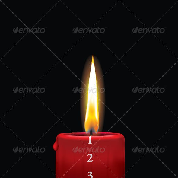 Red Advent Candle - December 1st