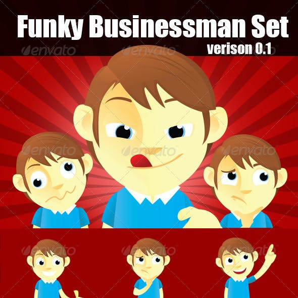 Funky Business Man Set
