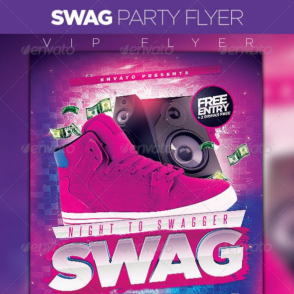 Night to swagger Party Flyer