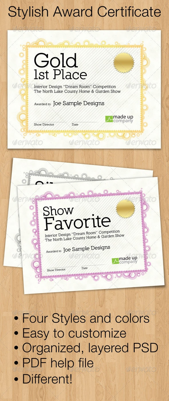 Stylish Award Certificate - Certificates Stationery