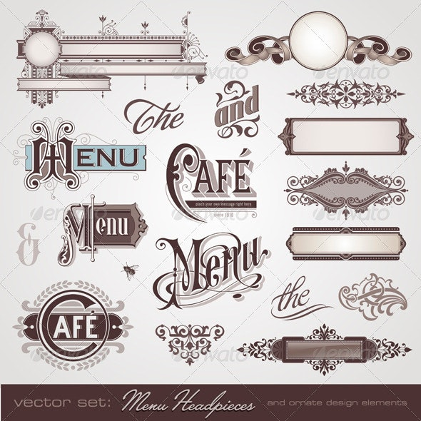 Menu Headpieces and Decoration  - Services Commercial / Shopping