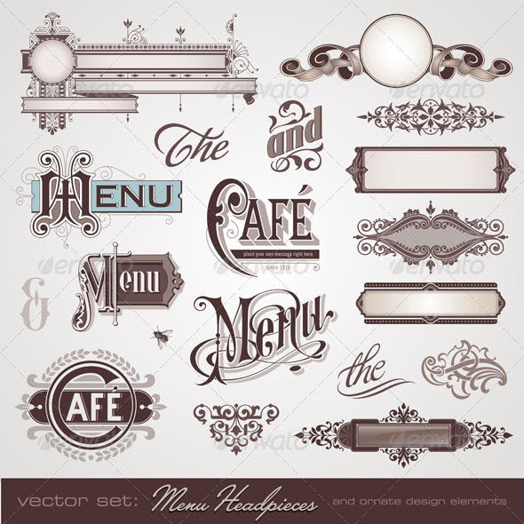 Menu Headpieces and Decoration