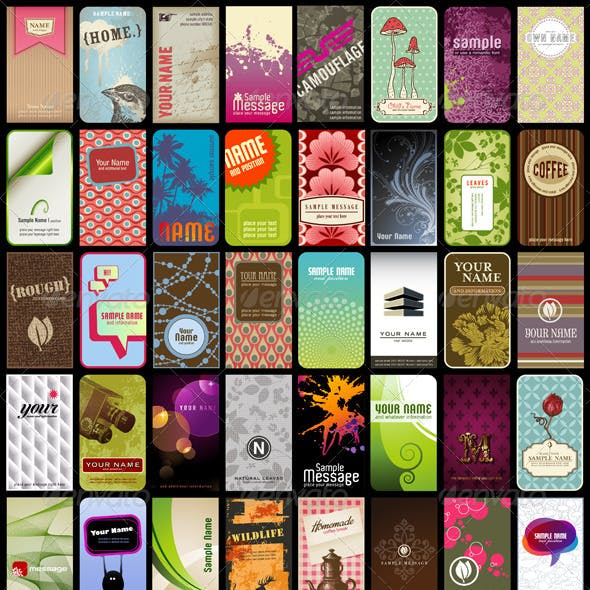 40 Vertical Business Cards Or Backgrounds (2)