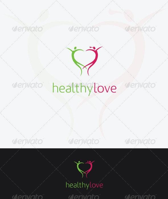 HealthyLove - Humans Logo Templates