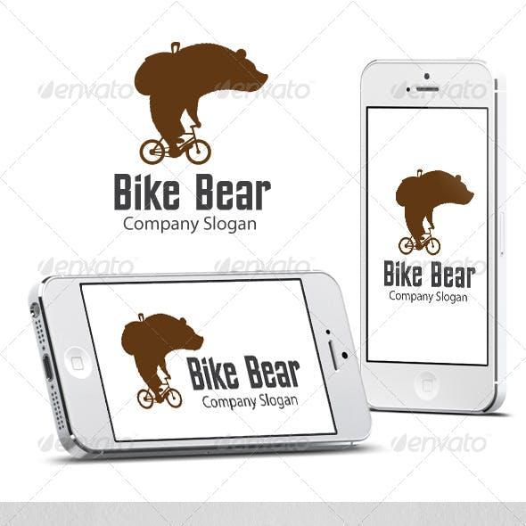 Bike Bear - Cool Logo Template