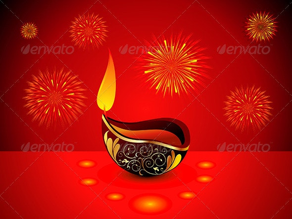 Abstract Diwali Background - Miscellaneous Seasons/Holidays