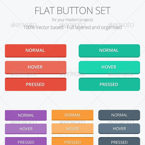 Flat Button Set