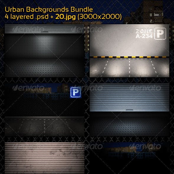 Urban Backgrounds - Bundle