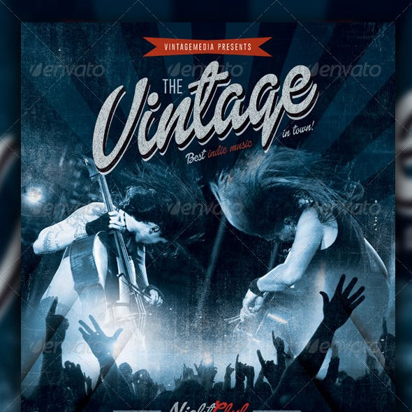 Indierock / Vintage Concert Flyer / Poster
