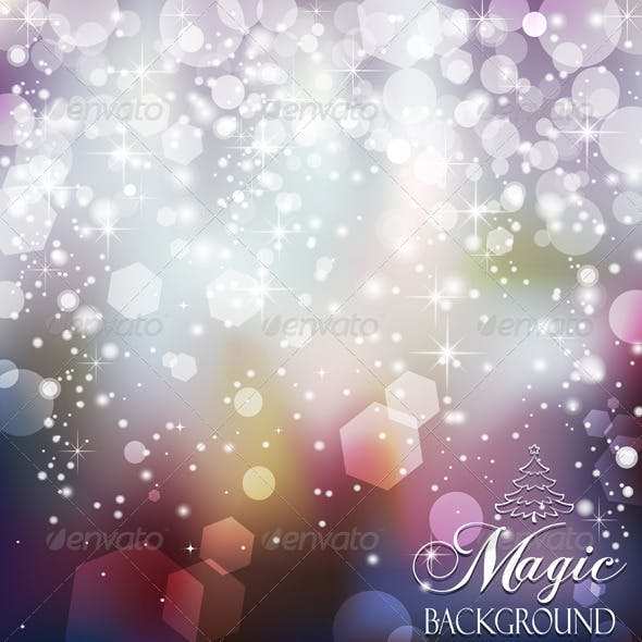 Magic Background Blue and Purple