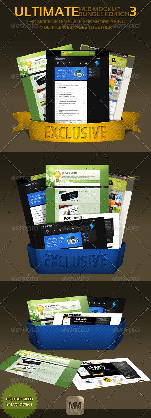 Web Mockup pack-3-Bundle Edition - Website Displays