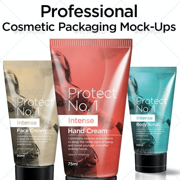 Cosmetic Packaging Mock Ups