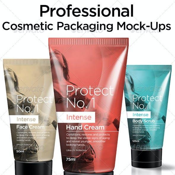 Cosmetic Packaging Mock Ups