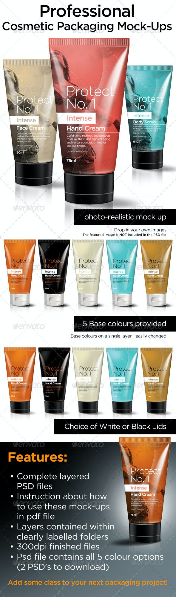 Cosmetic Packaging Mock Ups - Miscellaneous Packaging