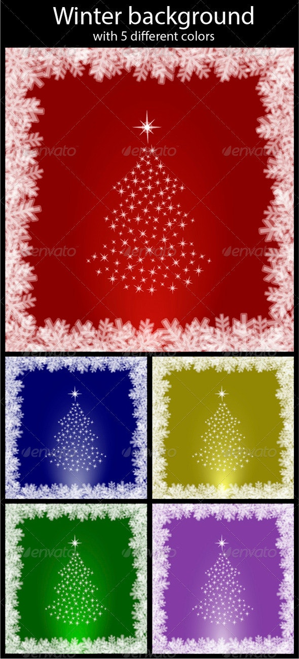 Abstract winter background - Backgrounds Decorative